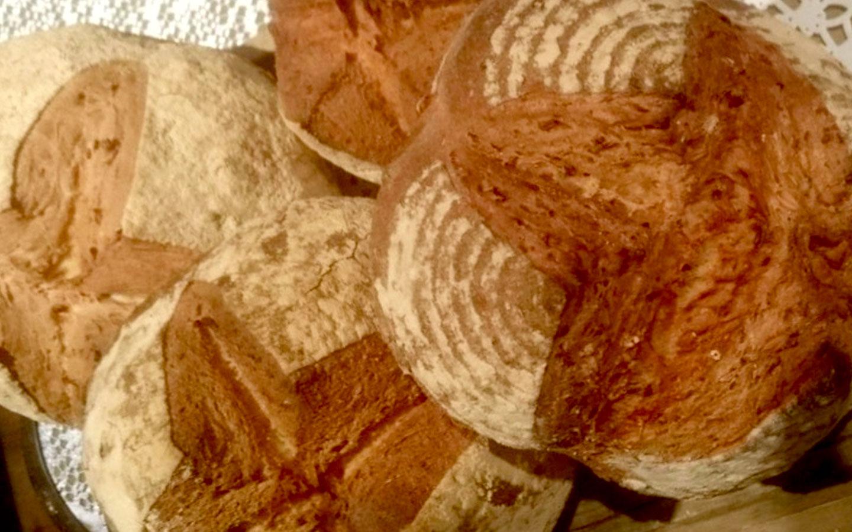 Sourdough bread rolls